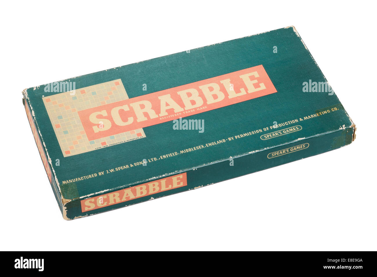 An original vintage game of Scrabble by Spears Games - Stock Image