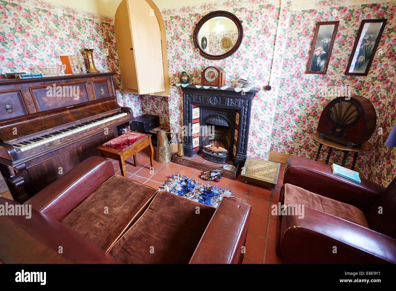 1930s living room 1930 s living room within a restored cottage stock photo 10502
