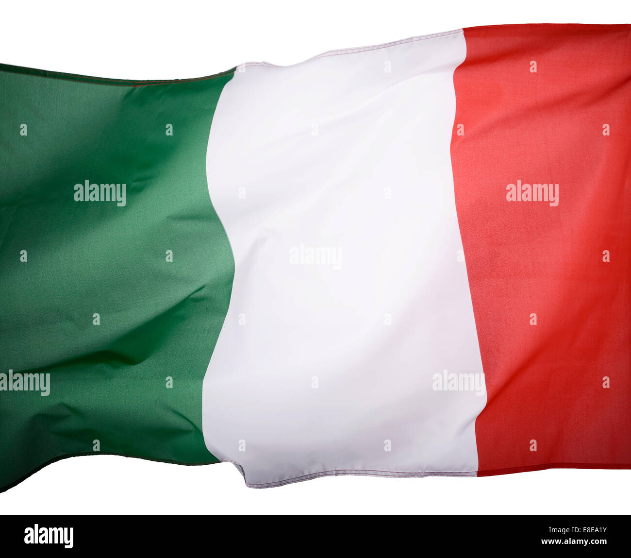 Close up detail of an Italian flag - Stock Image