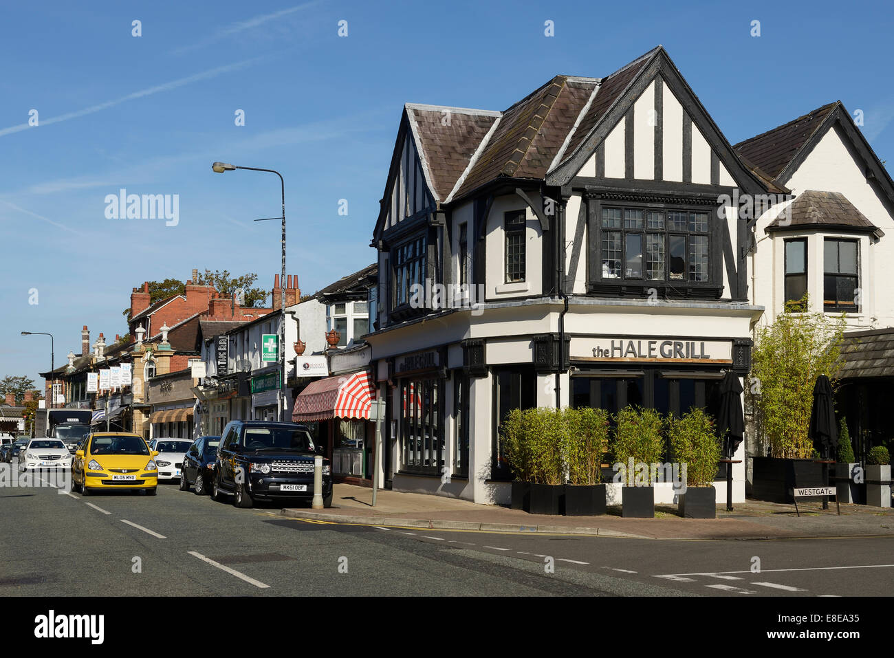 The Hale Grill on Ashley Road Hale Greater Manchester UK - Stock Image
