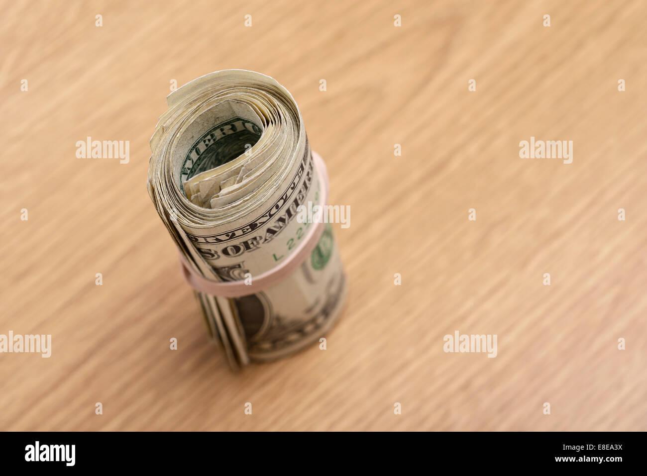 Bundle of US One Dollar Bills - Stock Image
