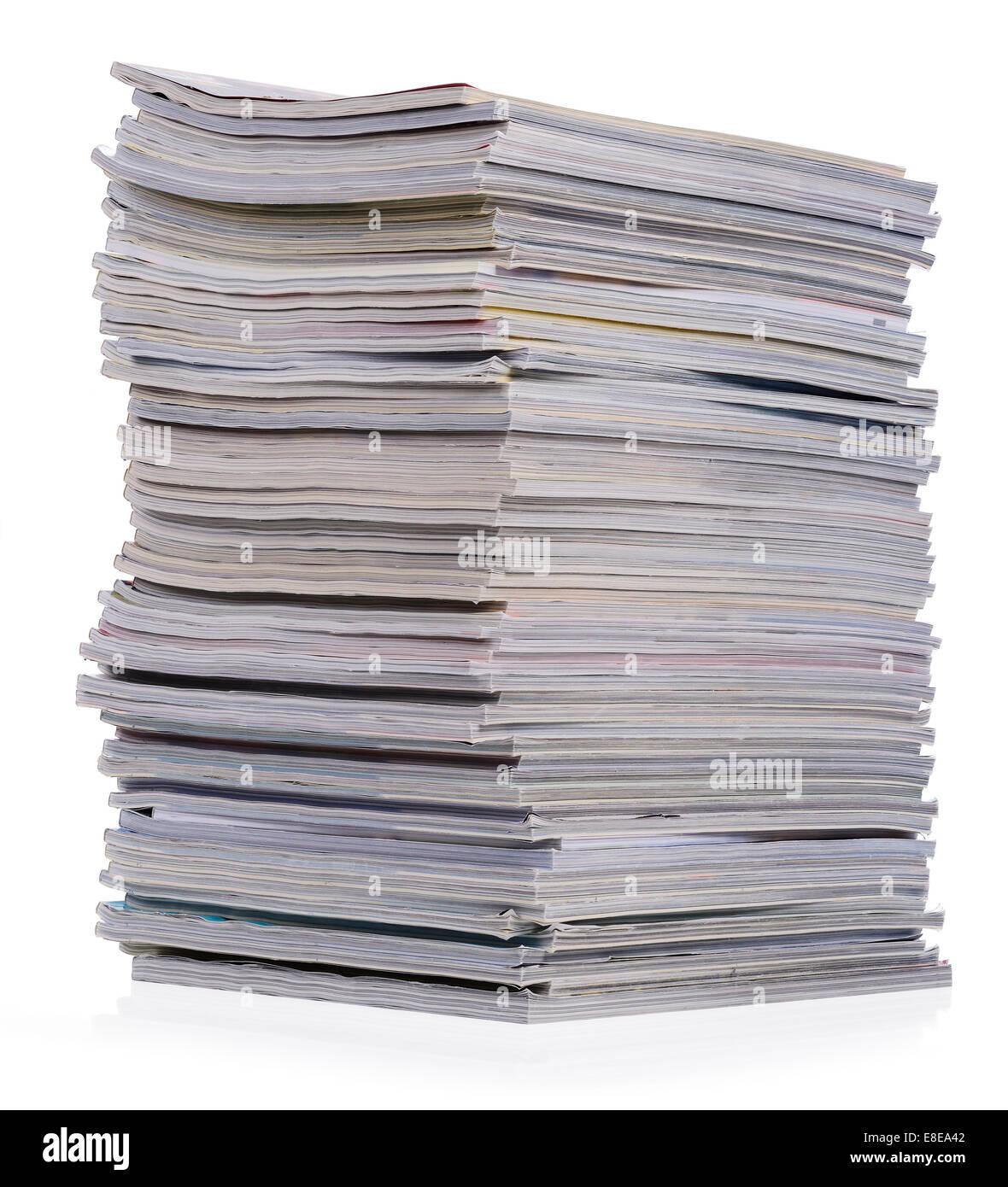 Big pile of magazines - Stock Image