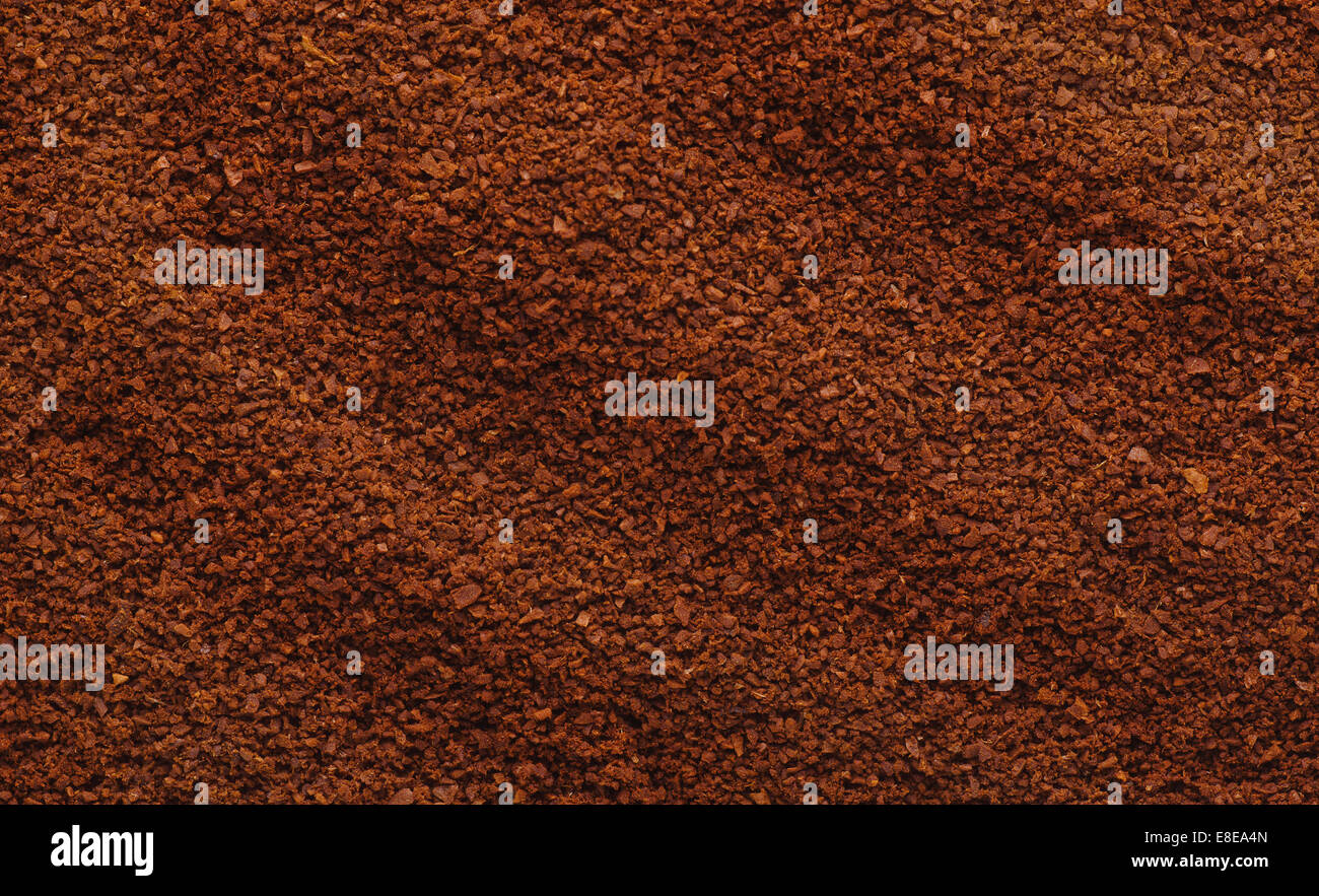 Texture of natural ground coffee - Stock Image
