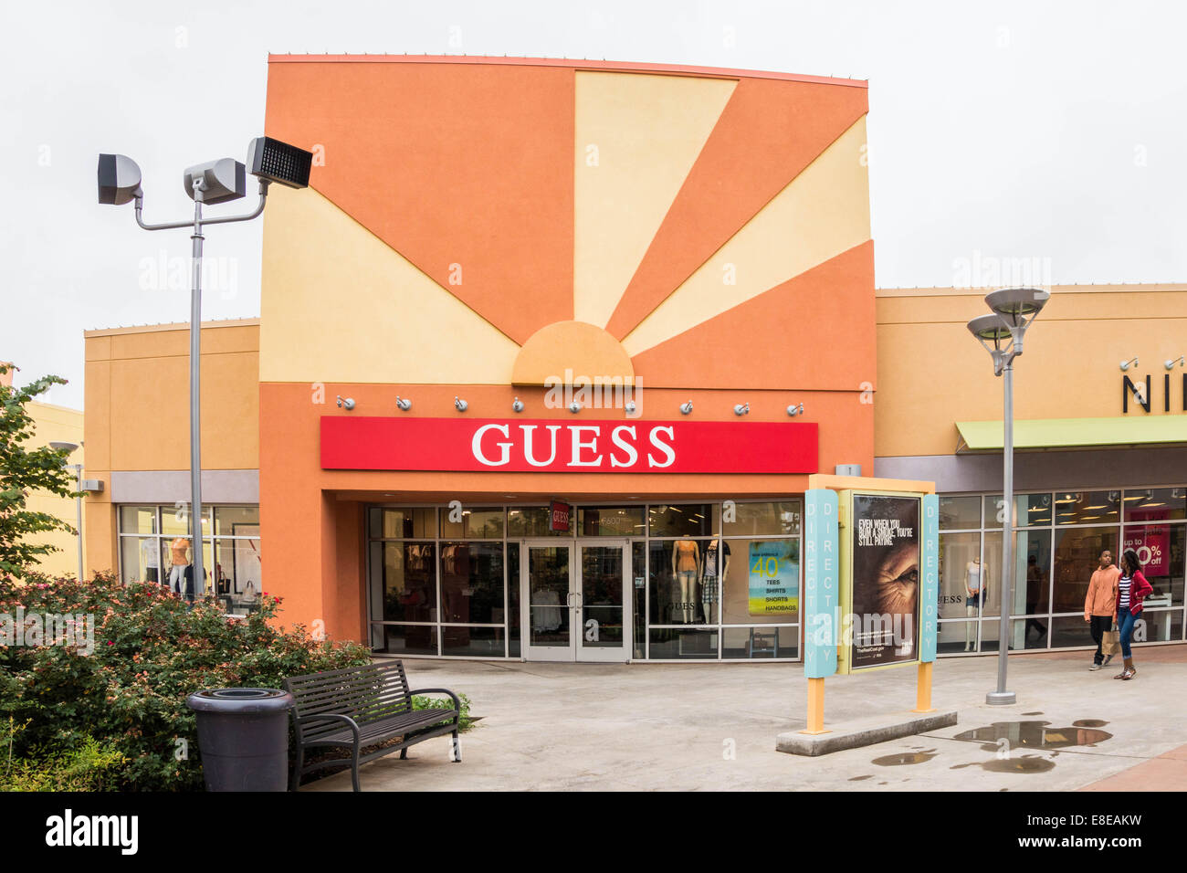 a2f5fa2ae5ea The exterior of a Guess store in The Outlet Shoppes at Oklahoma City ...