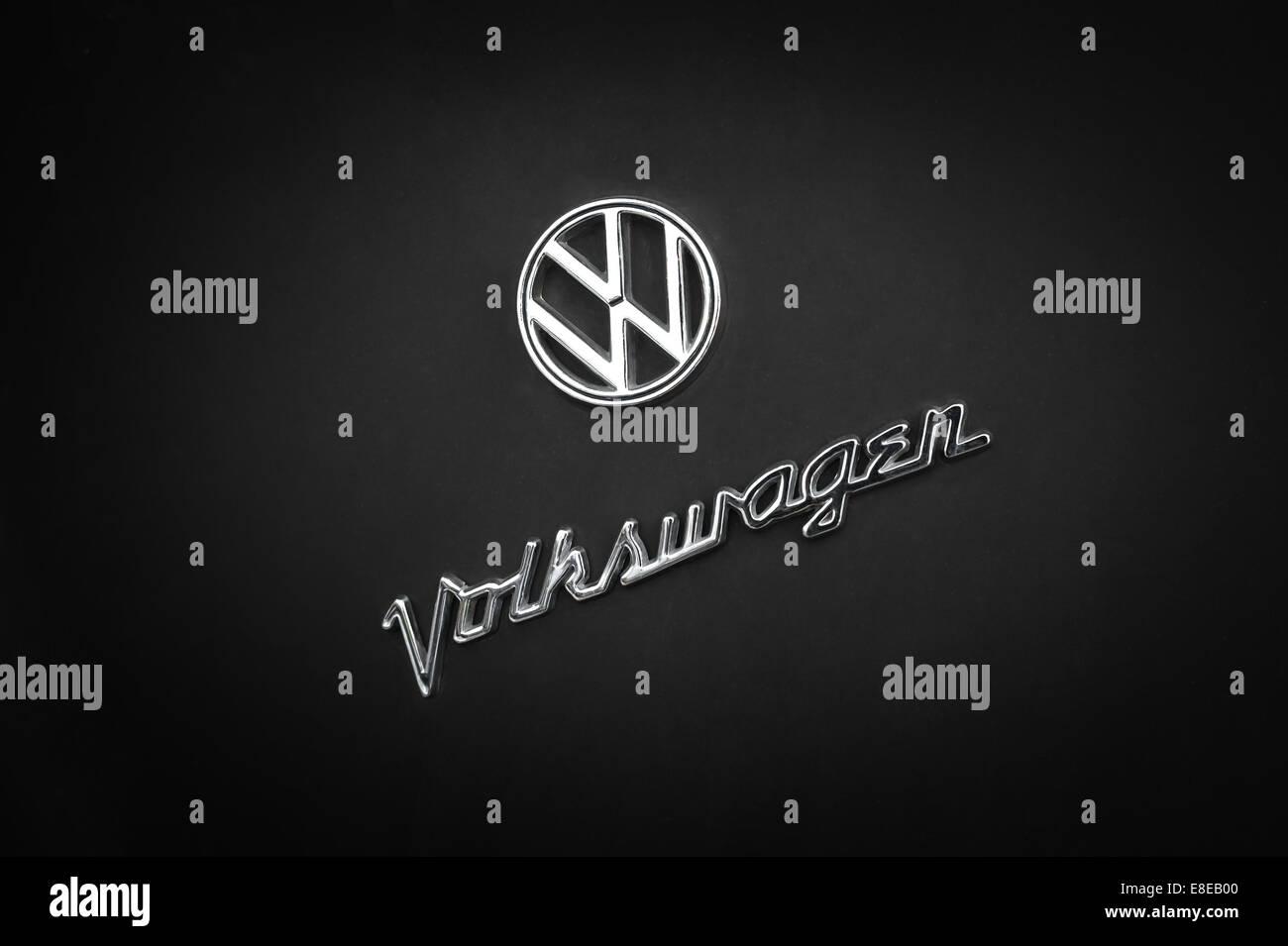 Vientiane Laos 12 Dec 2013 Volkswagen Vintage Logo On Retro