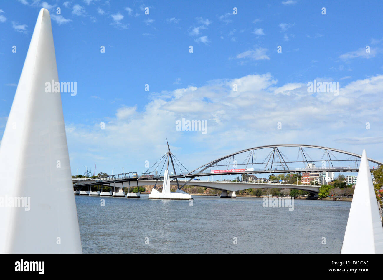 Goodwill Bridge in Brisbane Australia - Stock Image