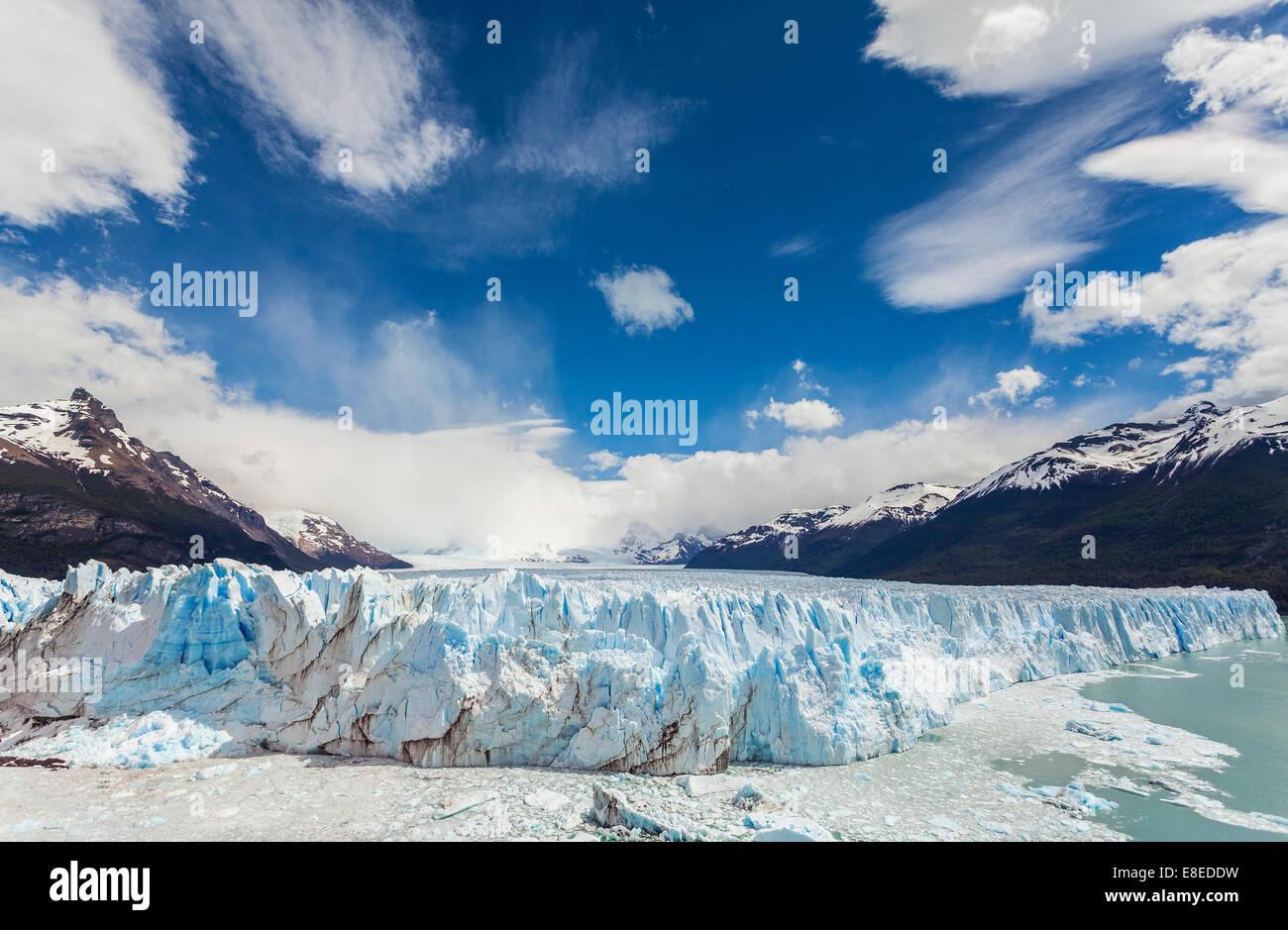 Perito Moreno Glacier in the Los Glaciares National Park, Argentina. Stock Photo