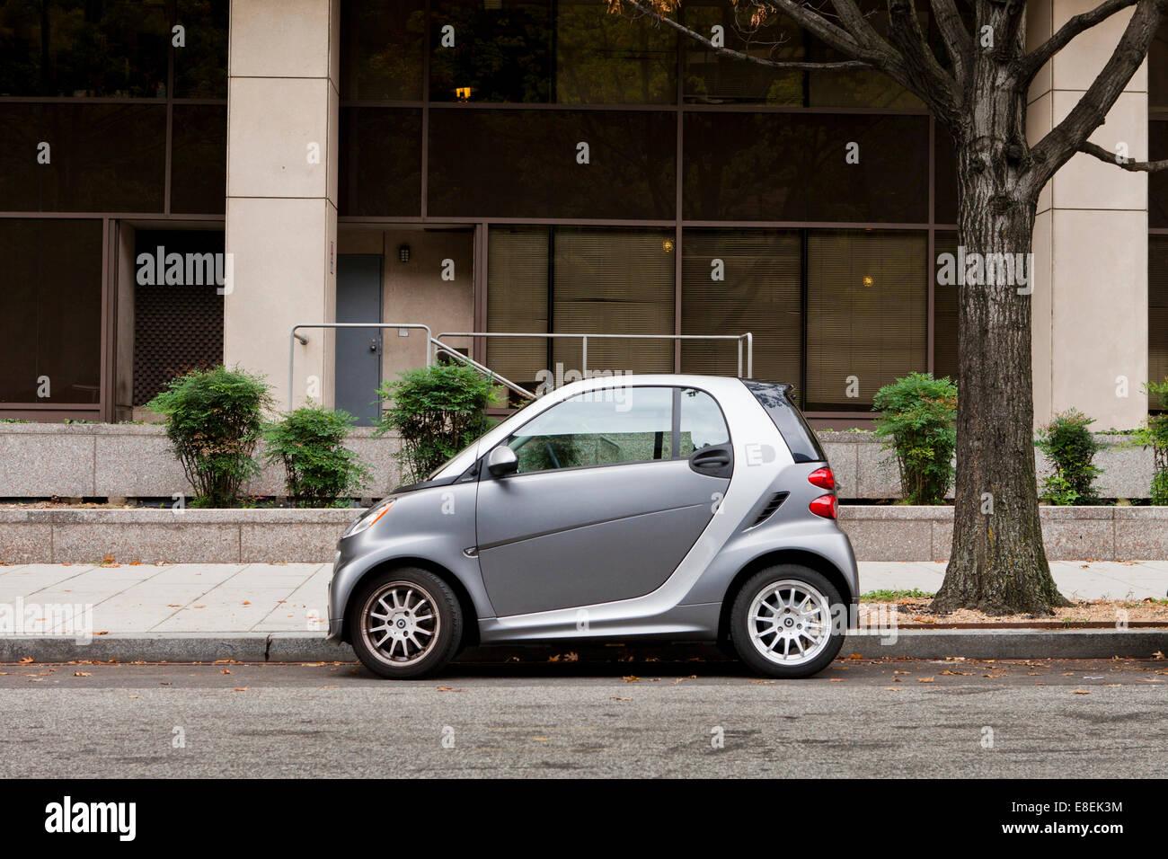Parked SmartCar - USA - Stock Image