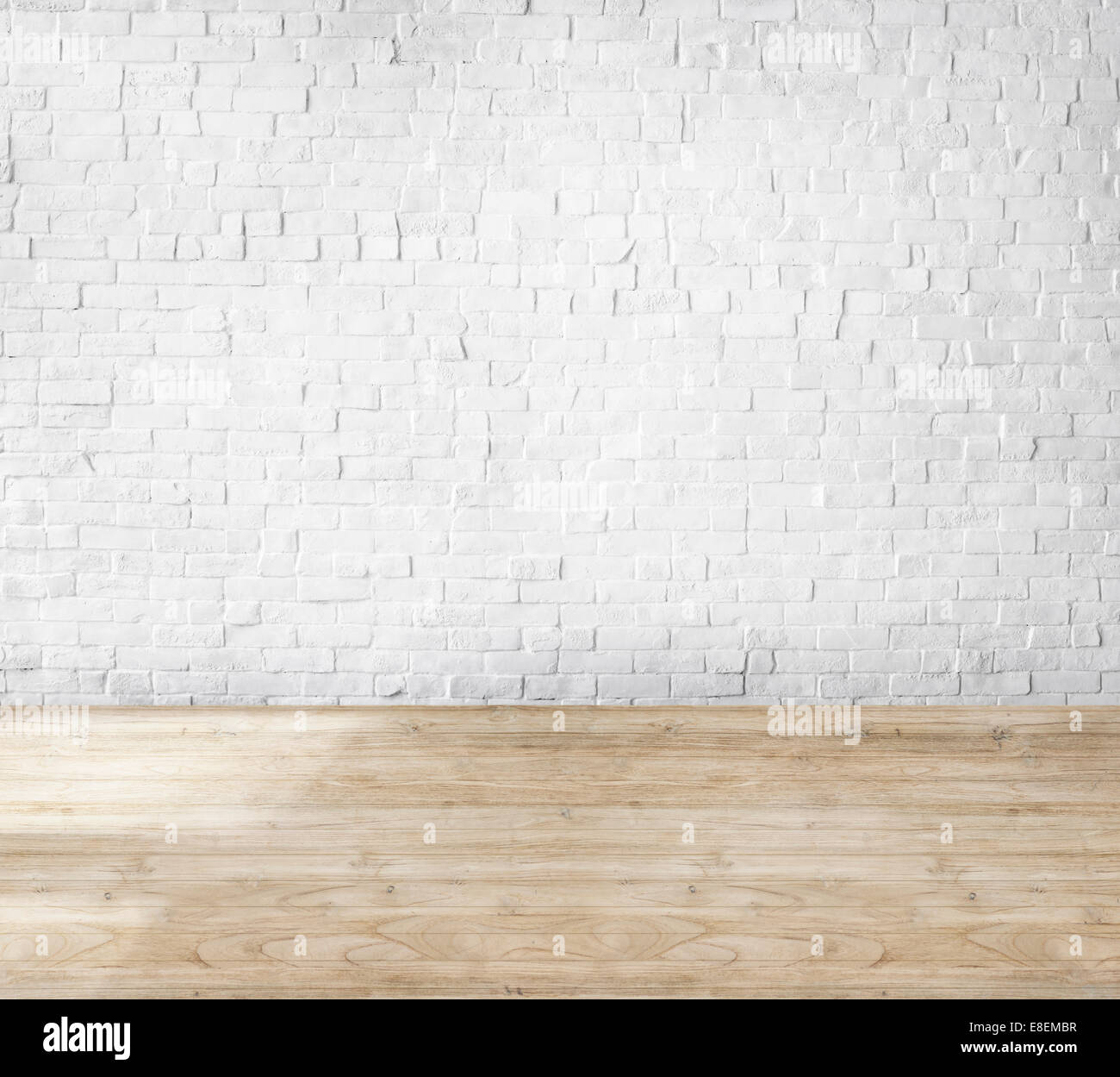 white brick wall wooden floor stock photos white brick wall wooden