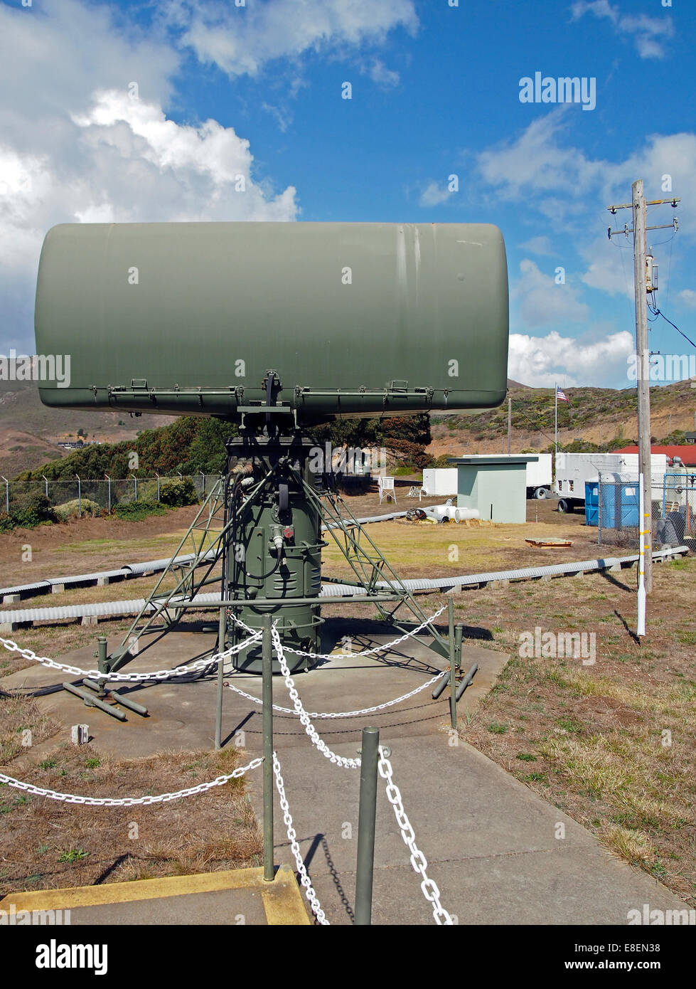 Nike Missile target acquisition radar, California, USA - Stock Image