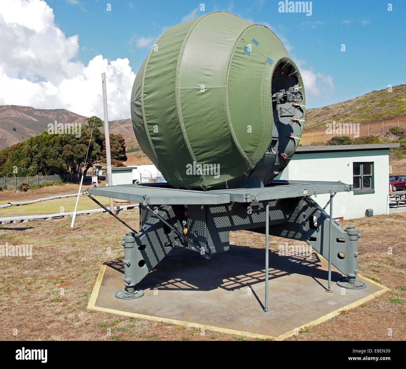 Nike Missile tracking radar, California, USA - Stock Image