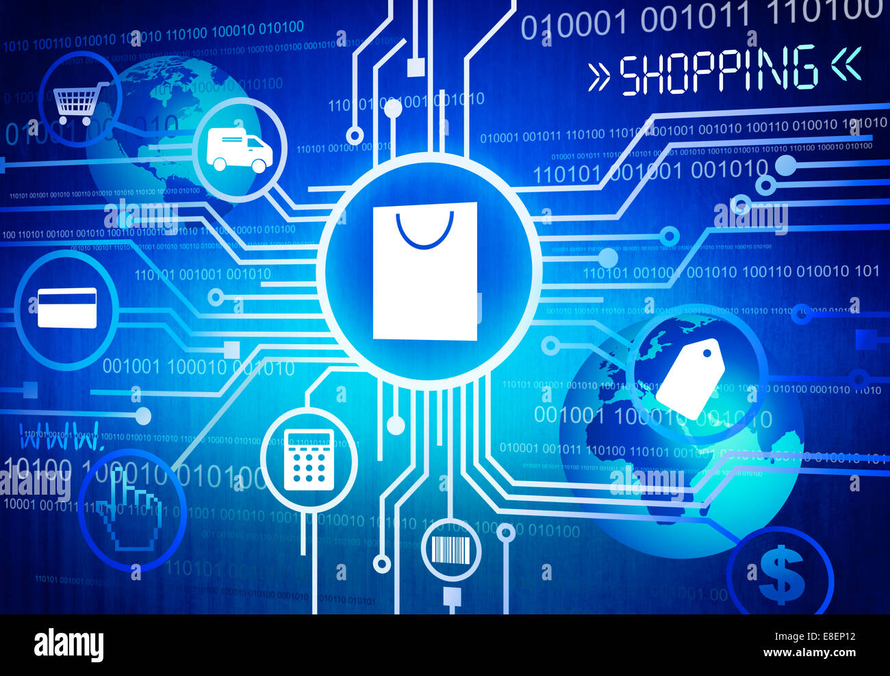 Digitally Generated Image of Shopping Concept - Stock Image