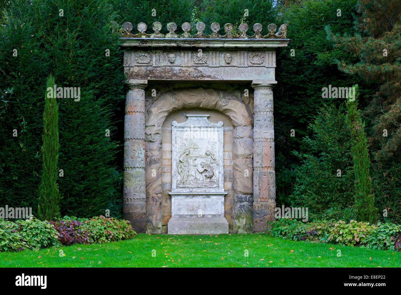 The gardens at Shugborough Hall, Staffordshire, England UK - Stock Image