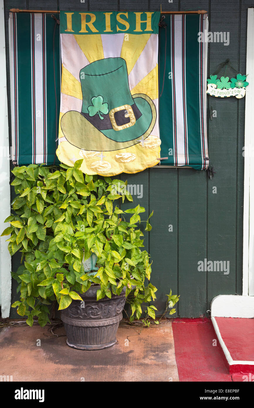 St. Patrick's Day decorations - Stock Image
