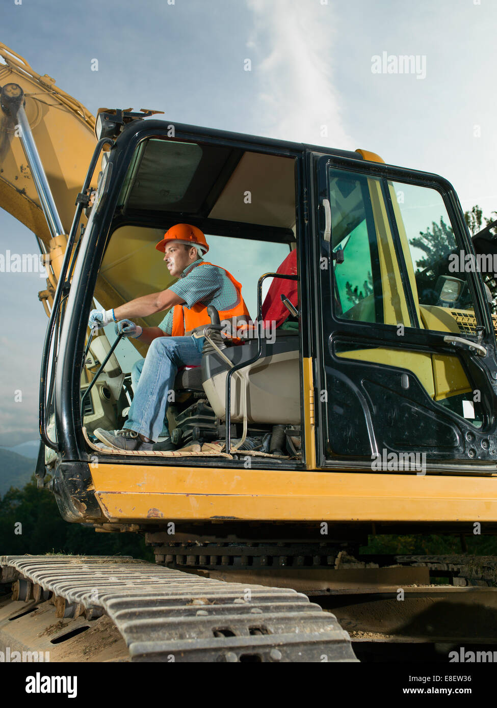 Man On Bulldozer : Man operating bulldozer stock photos
