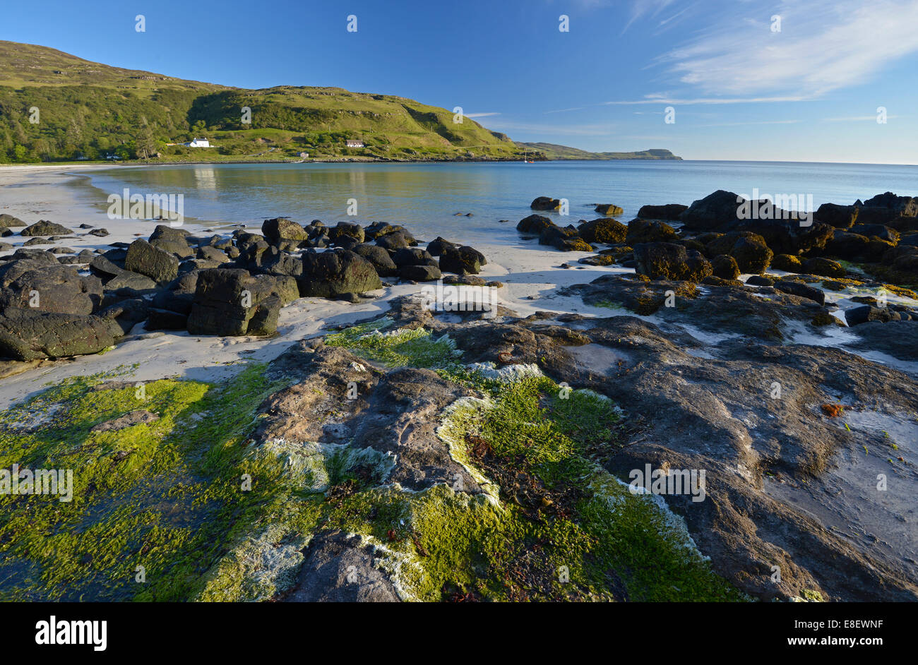 Beach of Calgary Bay, Isle of Mull, Inner Hebrides, Argyll and Bute, Scotland, United Kingdom - Stock Image