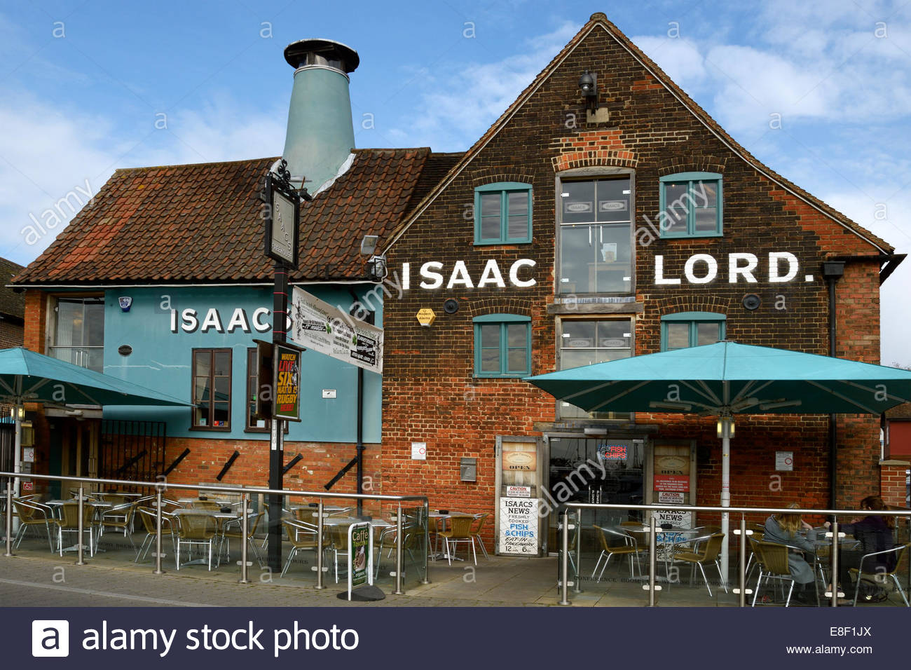 Isaac Lord pub, Wherry Quay, Ipswich, Suffolk, England,UK - Stock Image