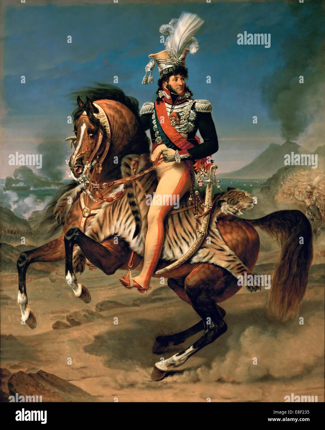 Equestrian Portrait of Joachim Murat (1767-1815). Artist: Gros, Antoine Jean, Baron (1771-1835) - Stock Image
