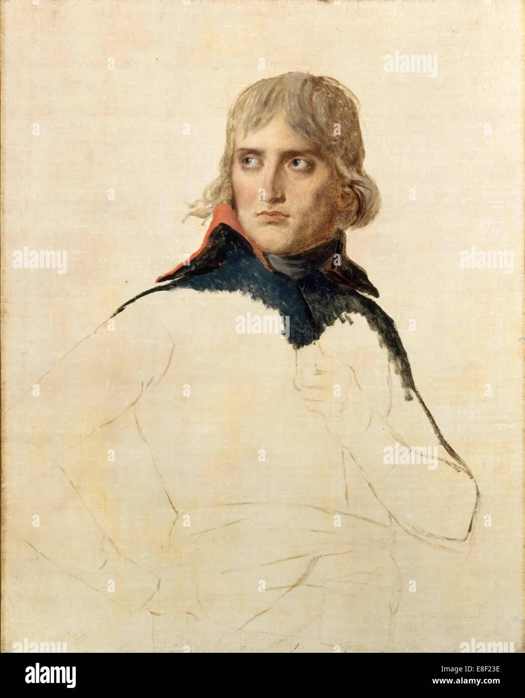 Portrait of General Napoléon Bonaparte. Artist: David, Jacques Louis (1748-1825) - Stock Image