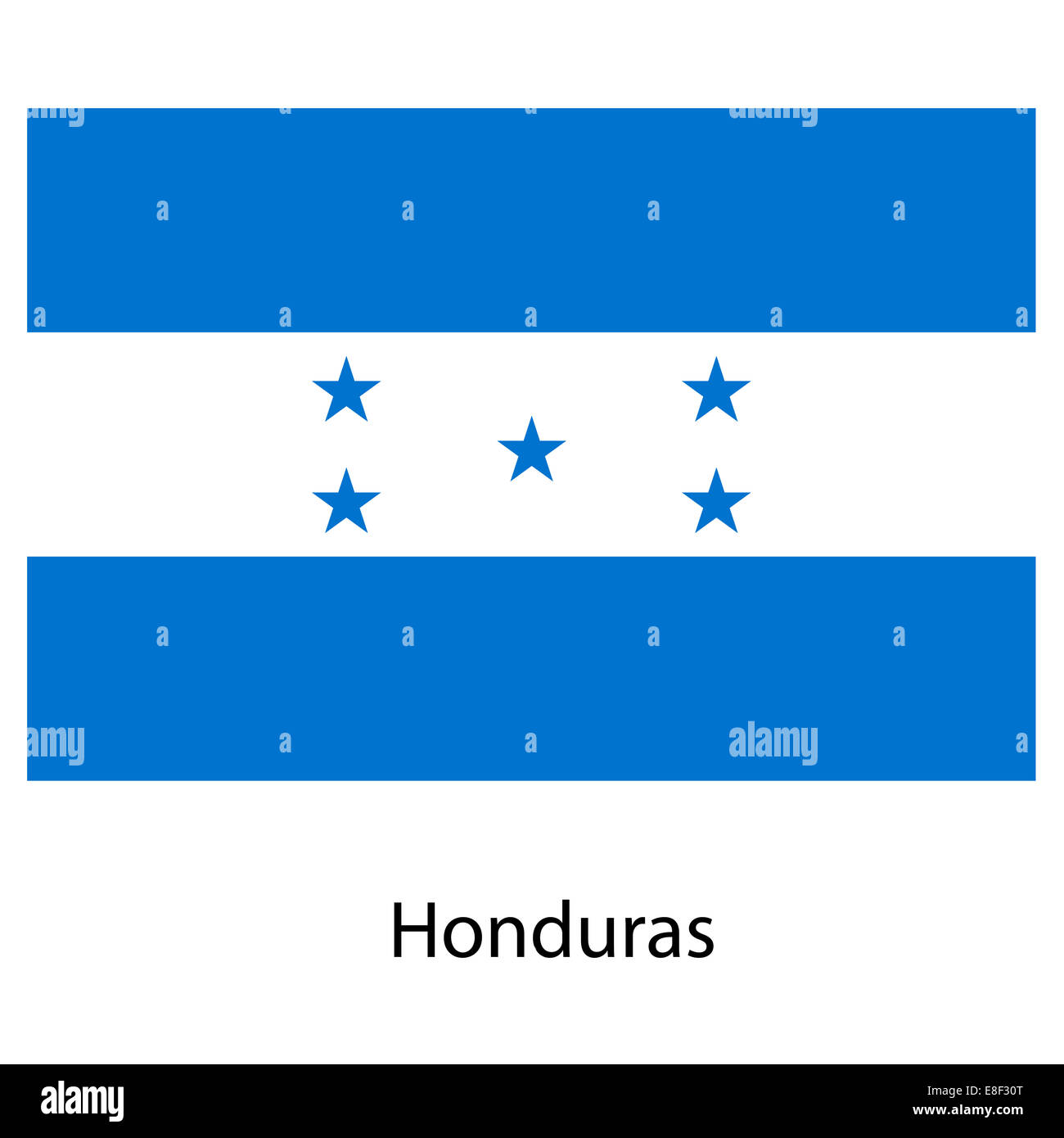 Flag  of the country  honduras. Vector illustration. Stock Photo