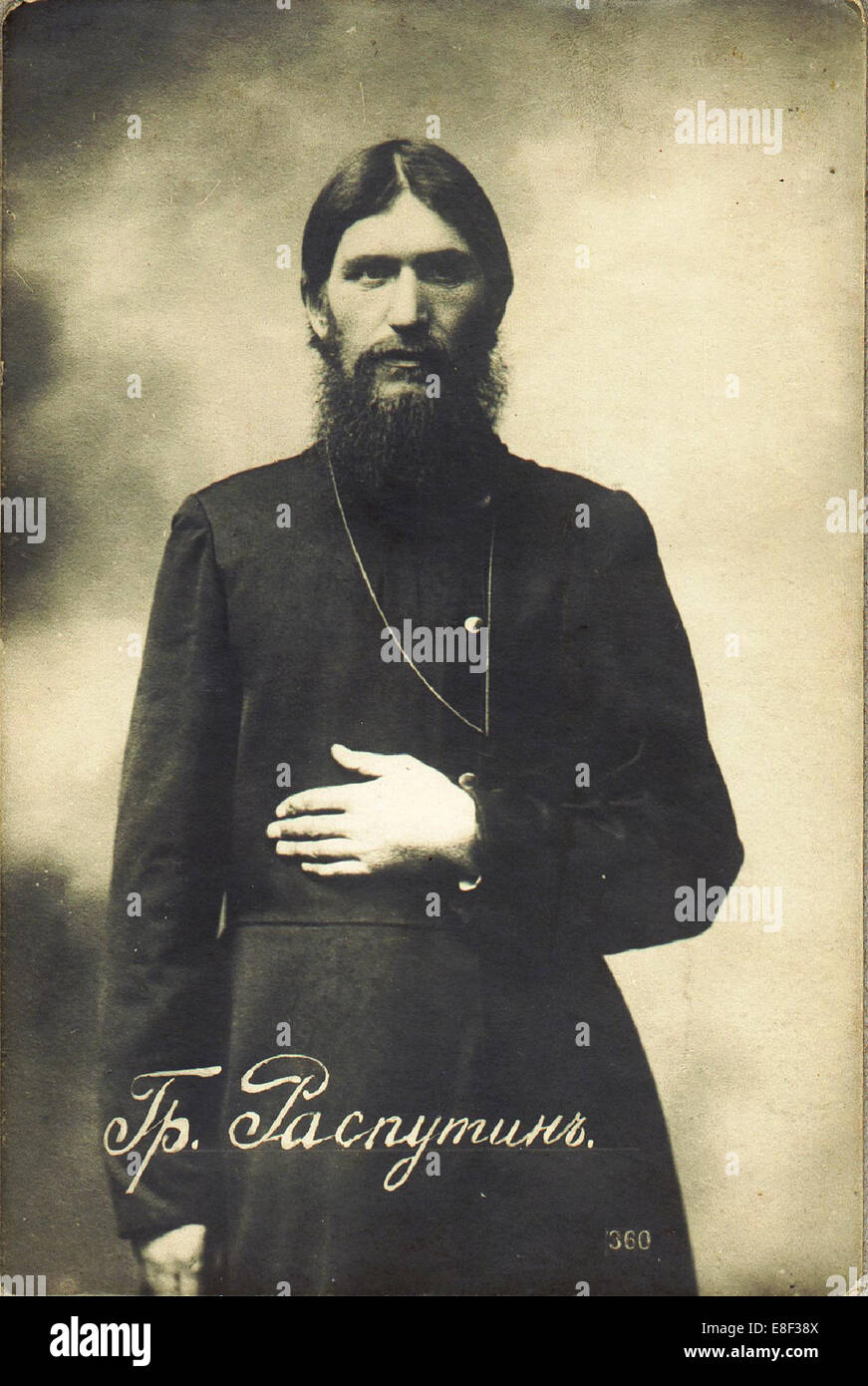 Grigori Yefimovich Rasputin (1869-1916) Artist: Bulla, Karl Karlovich (1853-1929) - Stock Image