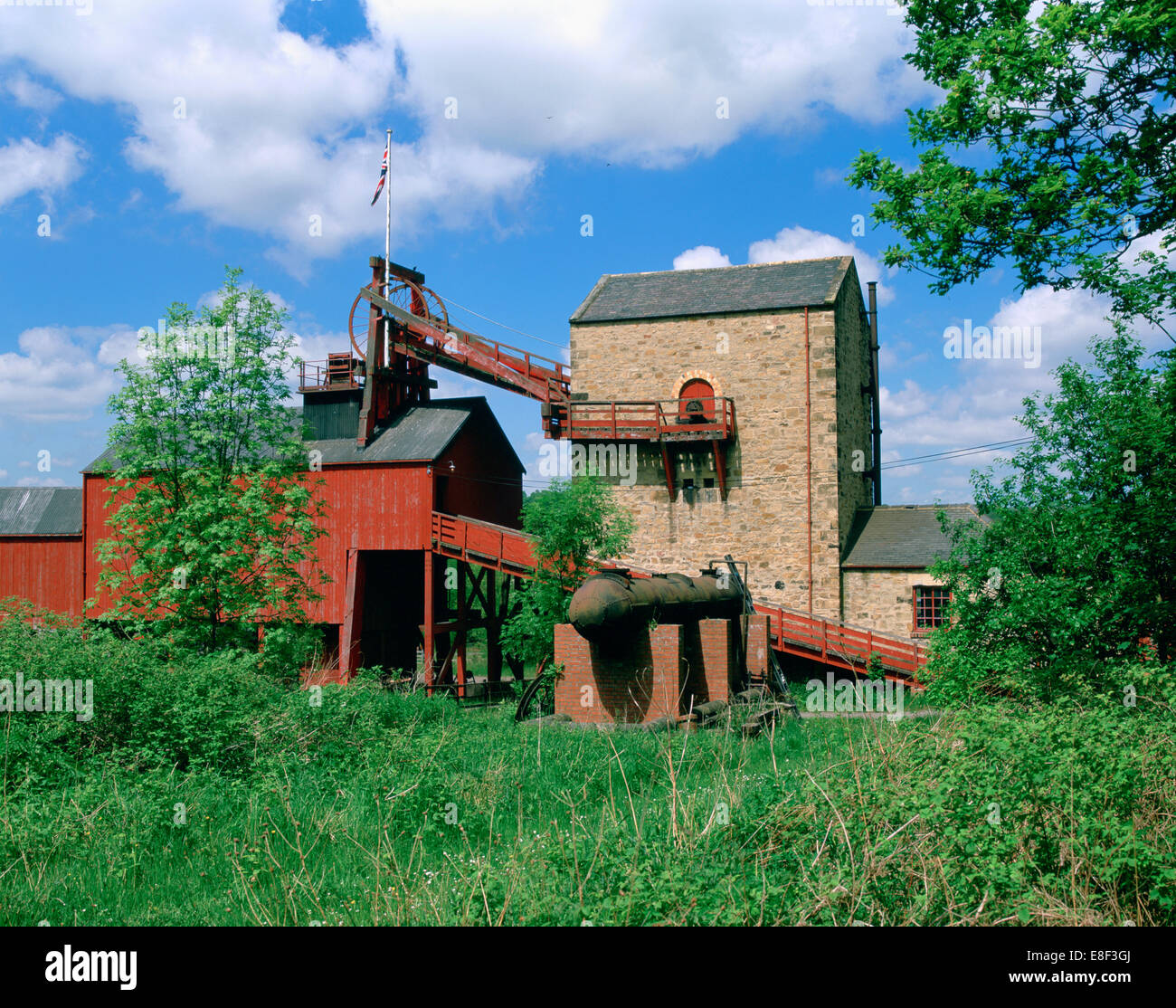 The Colliery, Beamish Museum, Stanley, County Durham. - Stock Image