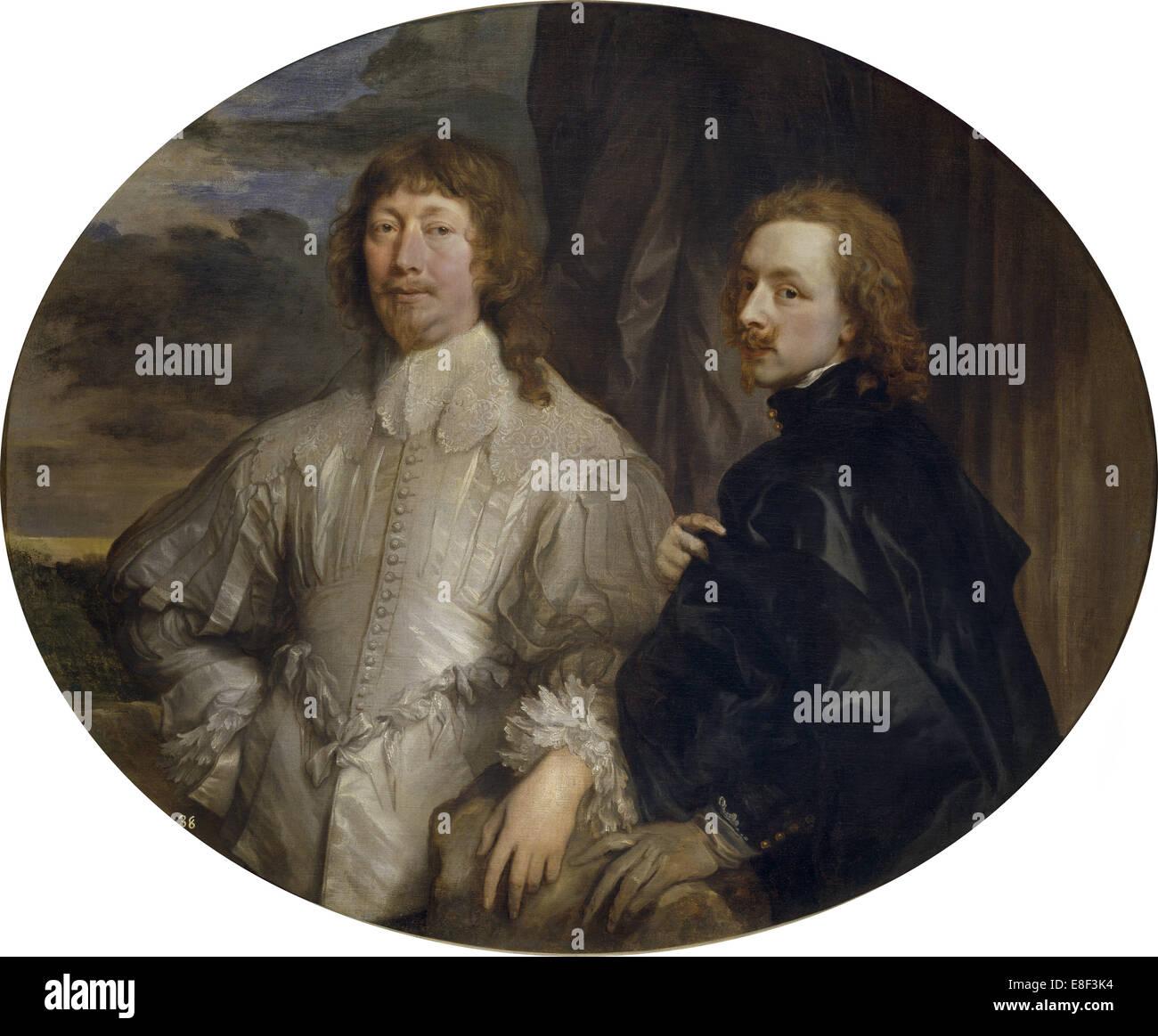Sir Endymion Porter and Sir Anthony van Dyck. Artist: Dyck, Sir Anthony van (1599-1641) - Stock Image