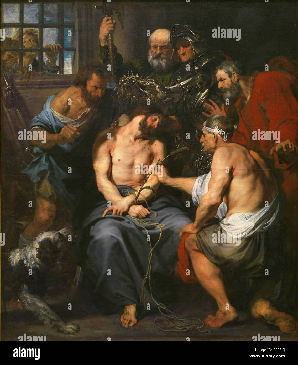 Christ Crowned with Thorns. Artist: Dyck, Sir Anthony van (1599-1641) - Stock Image