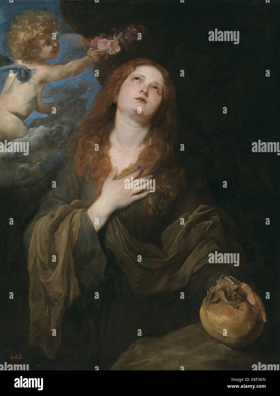 Saint Rosalia. Artist: Dyck, Sir Anthony van (1599-1641) - Stock Image
