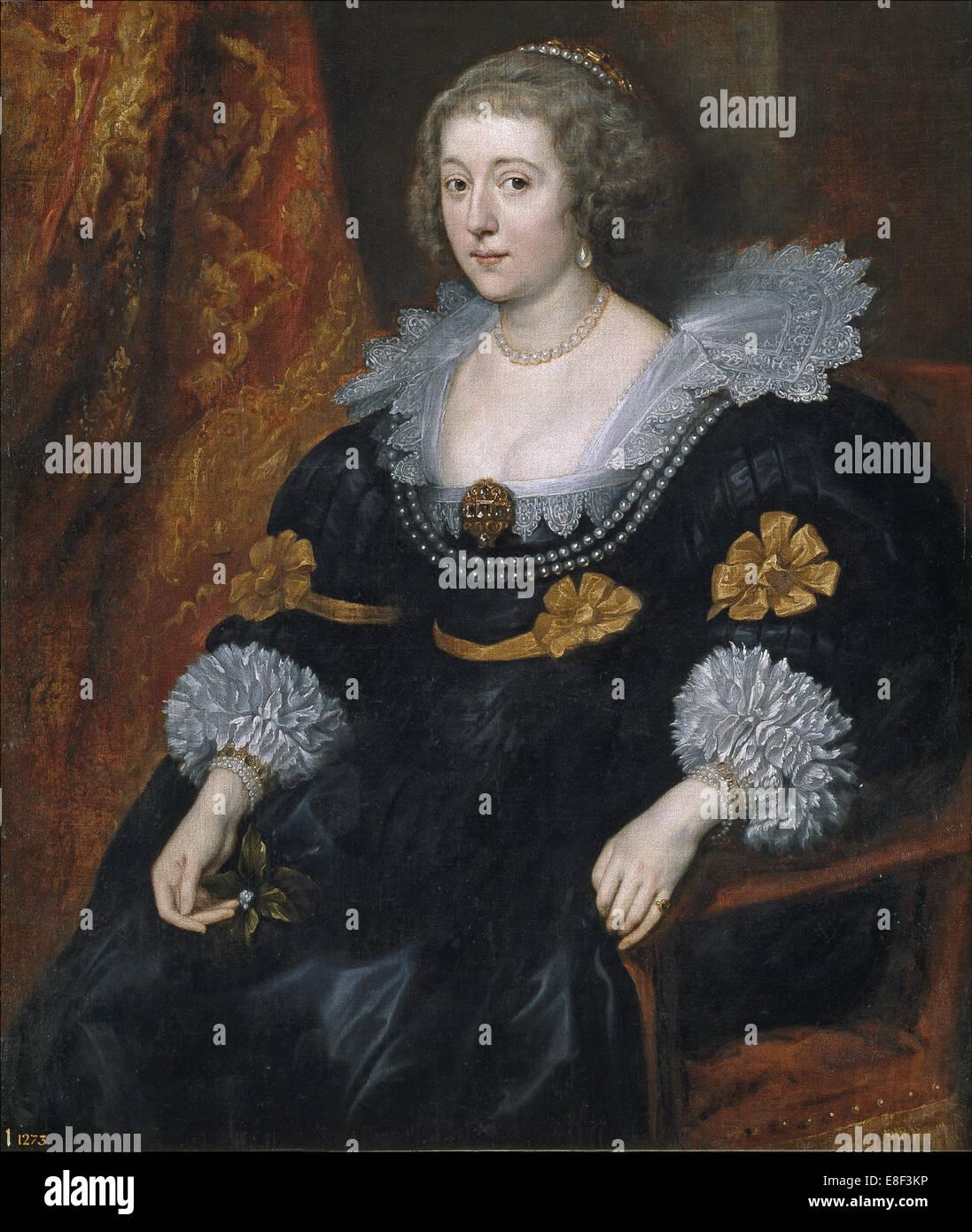 Portrait of Amalia of Solms-Braunfels (1602-1675). Artist: Dyck, Sir Anthony van (1599-1641) - Stock Image