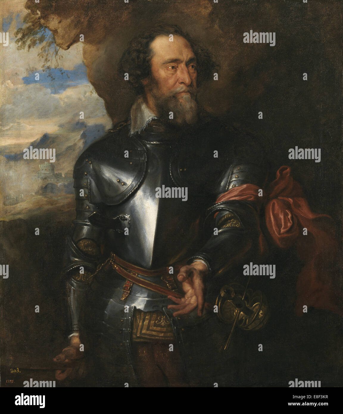 Portrait of Count Hendrik van den Bergh (1573-1638). Artist: Dyck, Sir Anthony van (1599-1641) - Stock Image