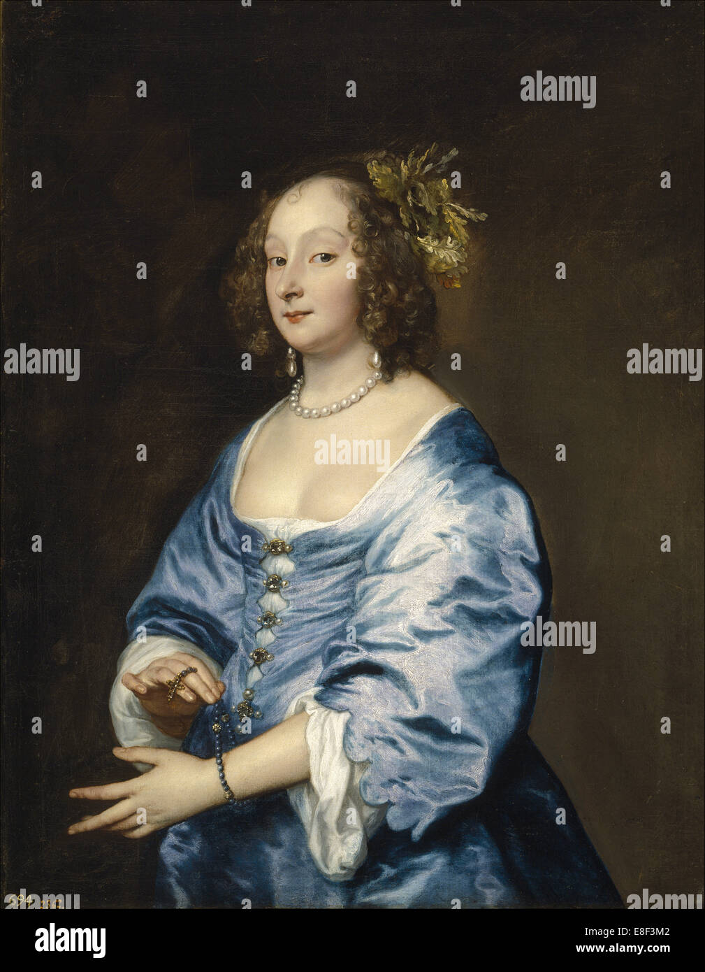 Portrait of Mary (née Ruthven), Lady van Dyck. Artist: Dyck, Sir Anthony van (1599-1641) - Stock Image