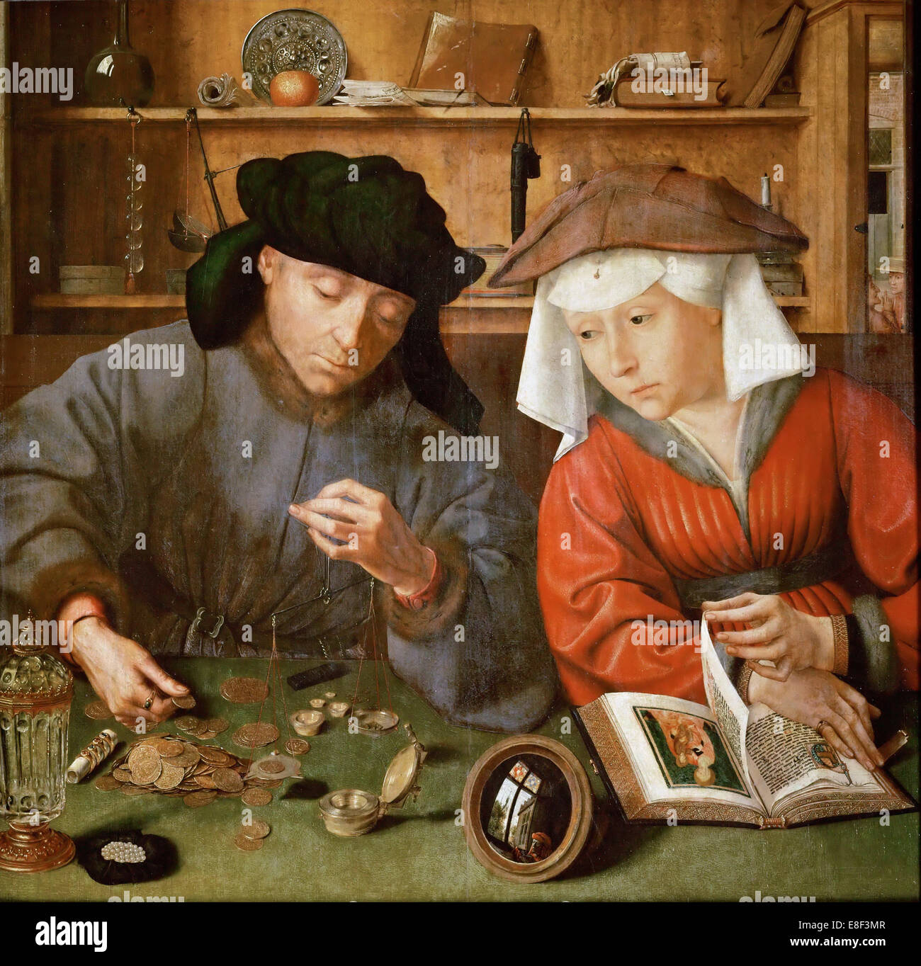 The Moneylender and his Wife. Artist: Massys, Quentin (1466?1530) - Stock Image
