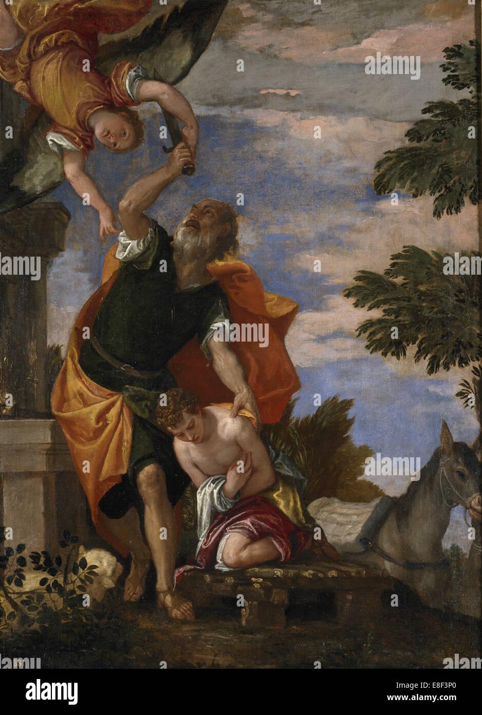The Sacrifice of Isaac. Artist: Veronese, Paolo (1528-1588) - Stock Image
