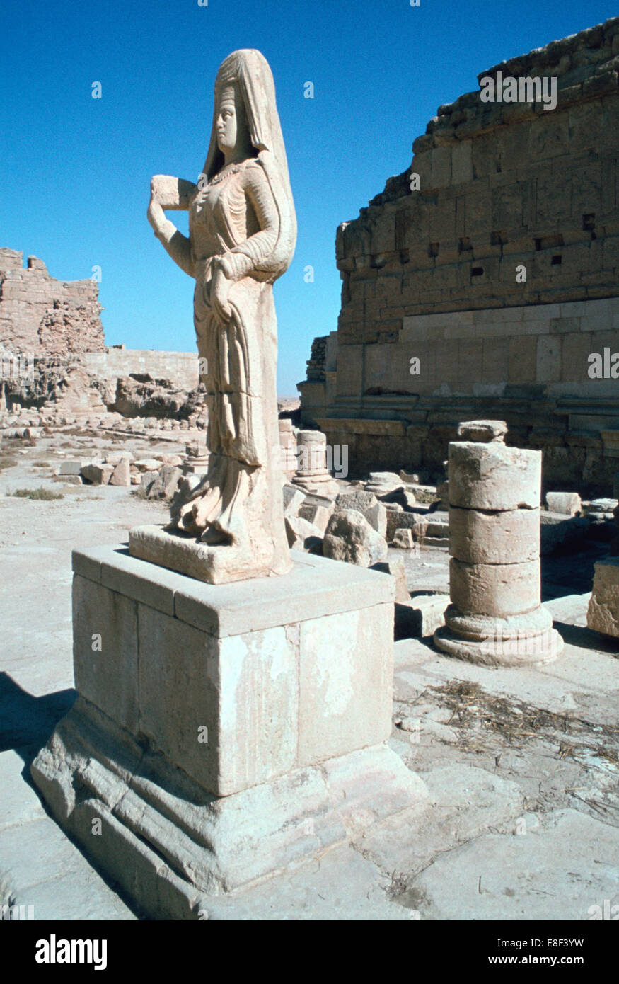 Statue of a Parthian princess, Hatra (Al-Hadr), Iraq, 1977. - Stock Image