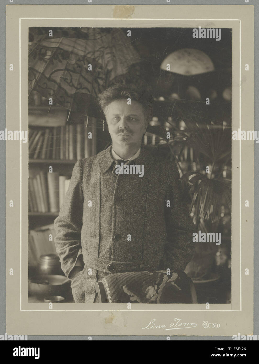 August Strindberg Artist: Jonn, Lina (1861-1896) - Stock Image