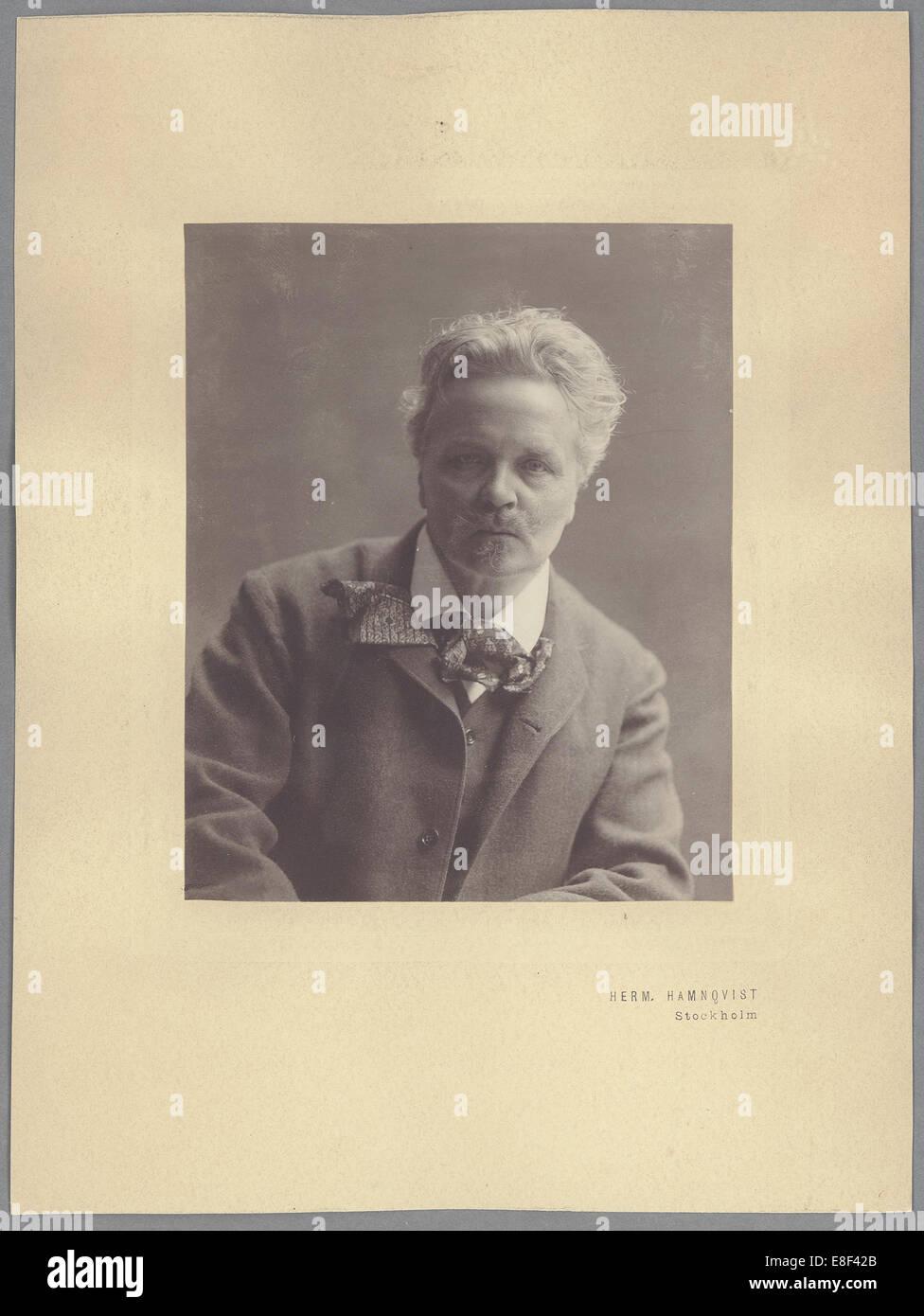 August Strindberg Artist: Hamnqvist, Herman (1865-1946) - Stock Image