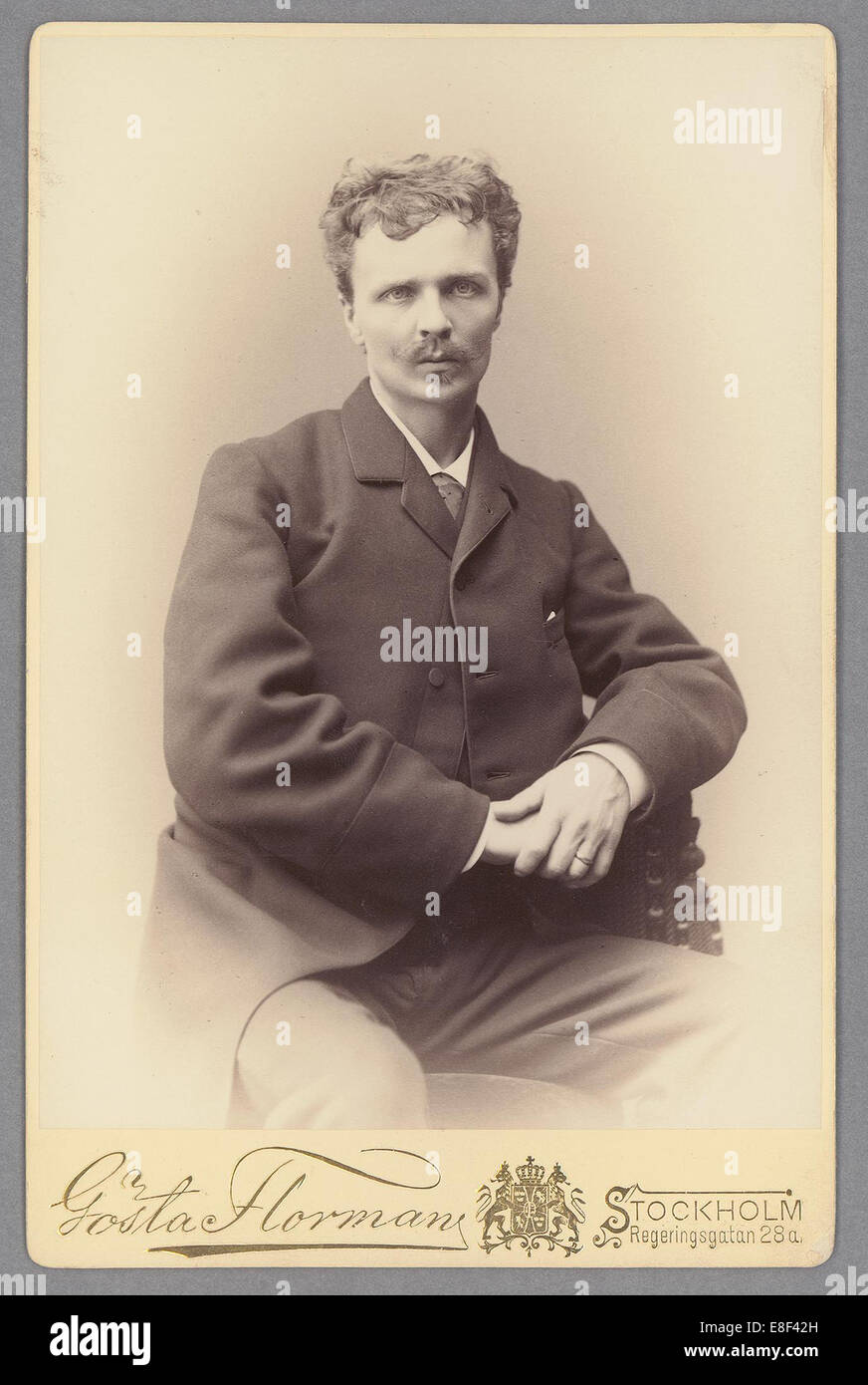 August Strindberg Artist: Florman, Gösta (1831-1900) - Stock Image