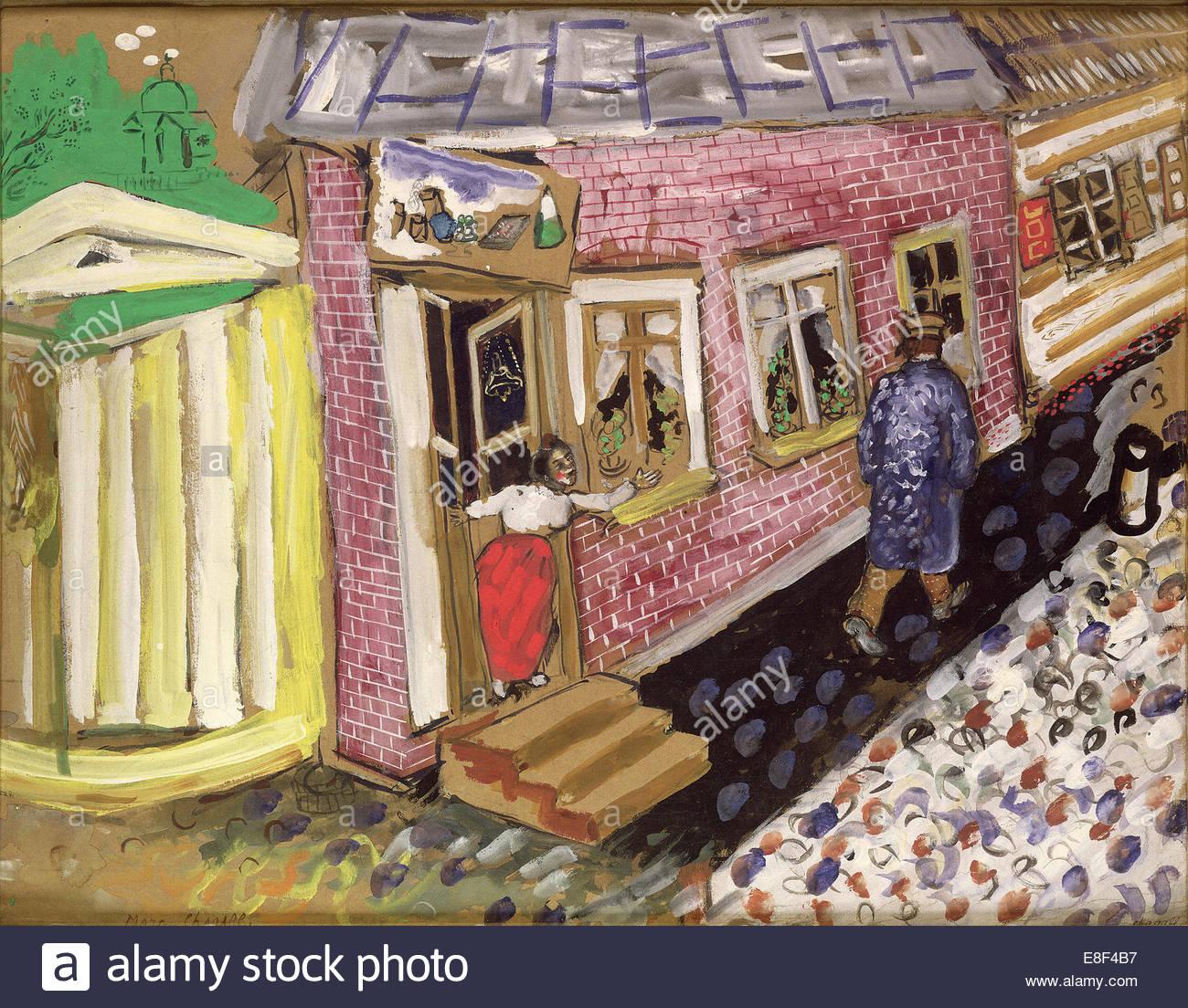 Street. Artist: Chagall, Marc (1887-1985) - Stock Image