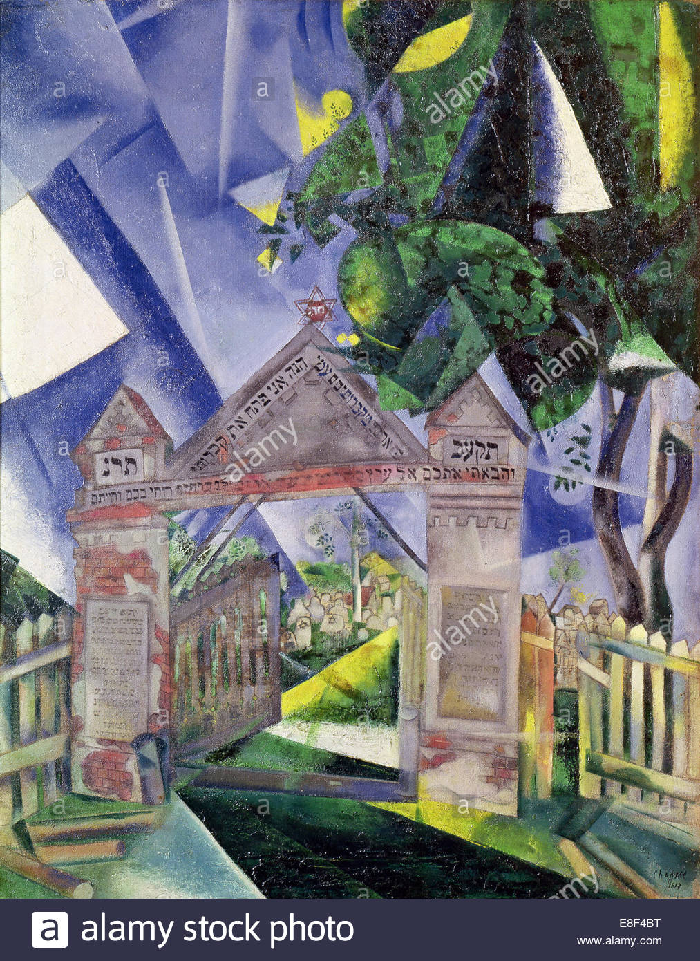 Cemetery Gates. Artist: Chagall, Marc (1887-1985) - Stock Image