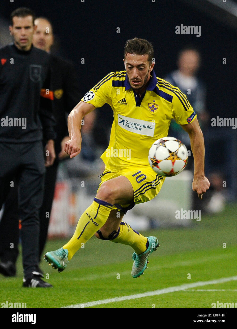 Gelsenkirchen, Germany 30.9.2014, Champions League 14/15 Group stage, Schalke 04 - NK Maribor -  Agim Ibraimi - Stock Image