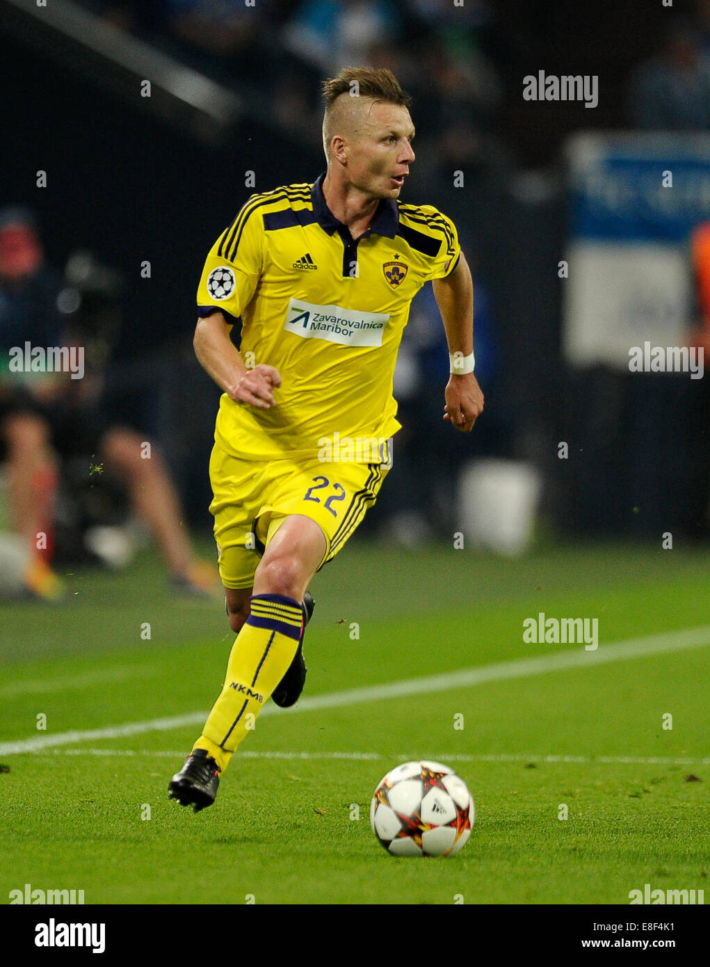 Gelsenkirchen, Germany 30.9.2014, Champions League 14/15 Group stage, Schalke 04 - NK Maribor -  Dare Vrsic - Stock Image
