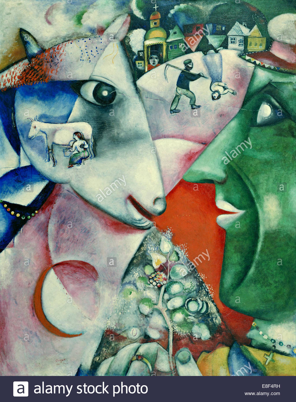 I and the Village. Artist: Chagall, Marc (1887-1985) - Stock Image