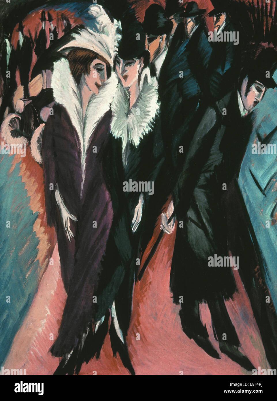 Street, Berlin. Artist: Kirchner, Ernst Ludwig (1880-1938) - Stock Image