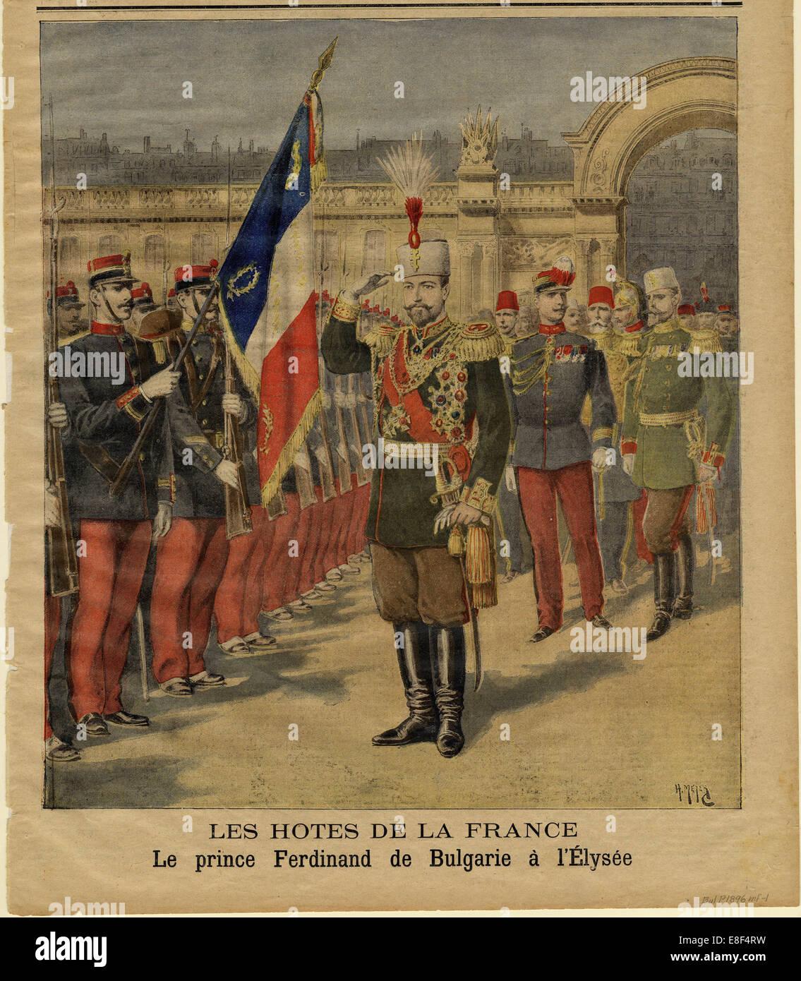 Ferdinand I of Bulgaria at the Élysée Palace. Artist: Meyer, Henri (1844-1899) - Stock Image