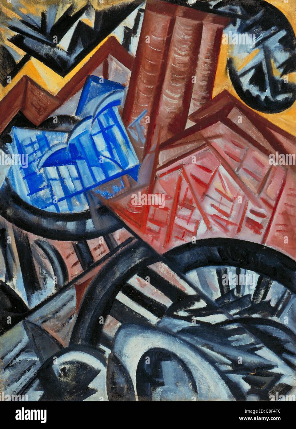 Factory and the Bridge. Artist: Rozanova, Olga Vladimirovna (1886-1918) - Stock Image