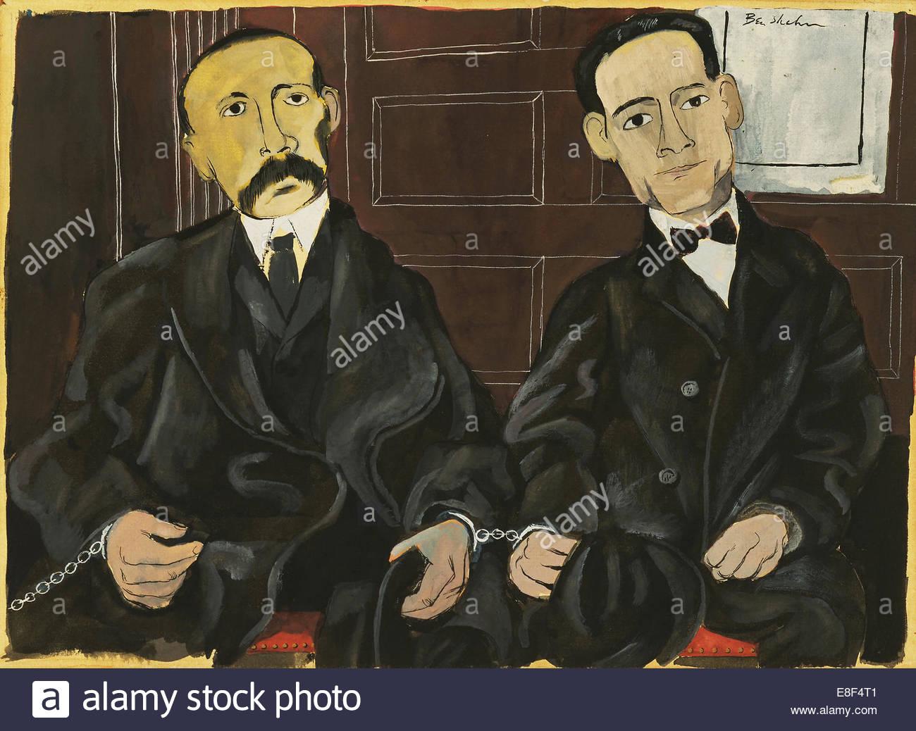 Bartolomeo Vanzetti and Nicola Sacco. Artist: Shahn, Ben (1898-1969) - Stock Image