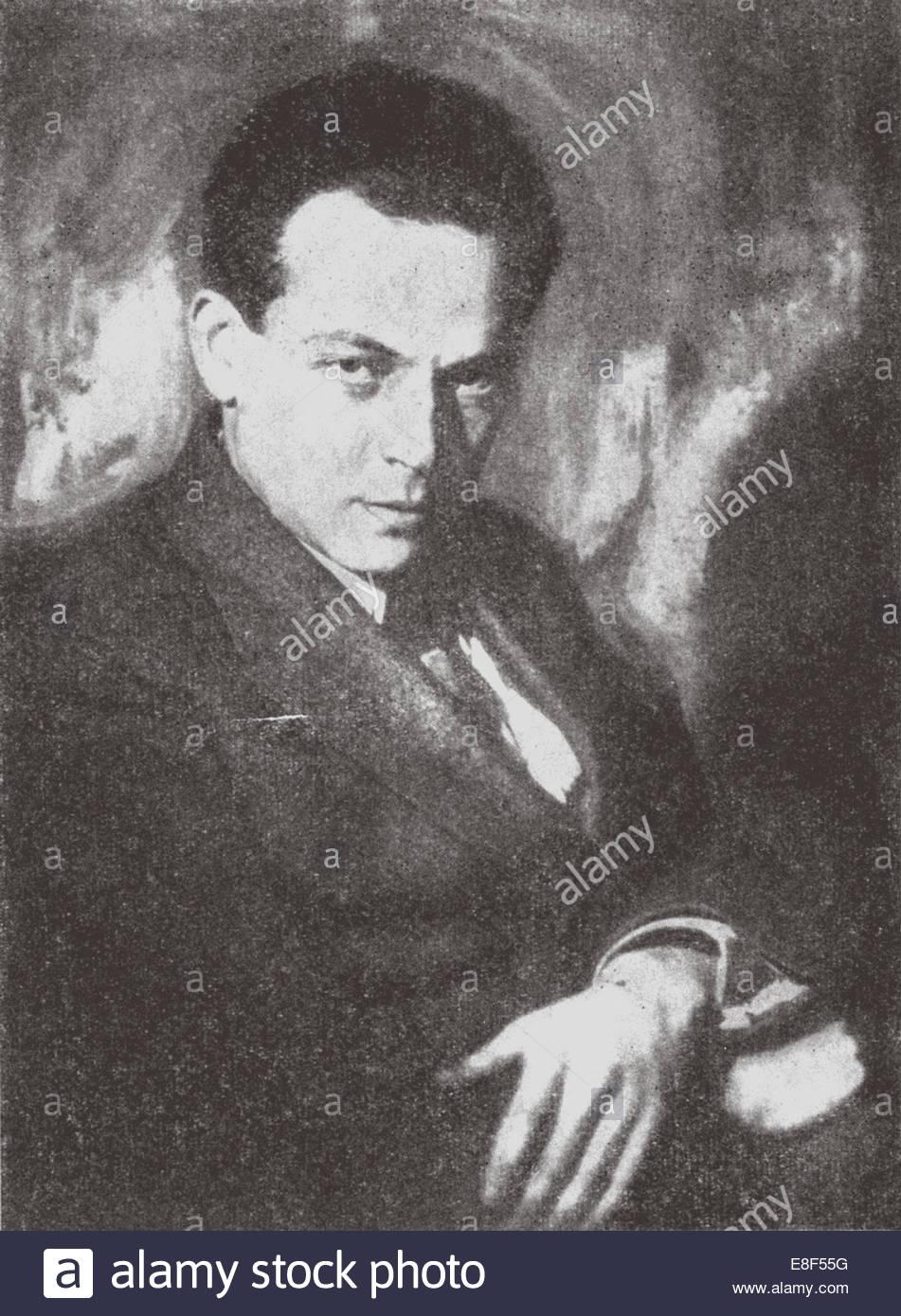 Yury Nikolaevich Tynyanov Artist: Nappelbaum, Moisei Solomonovich (1869-1958) - Stock Image