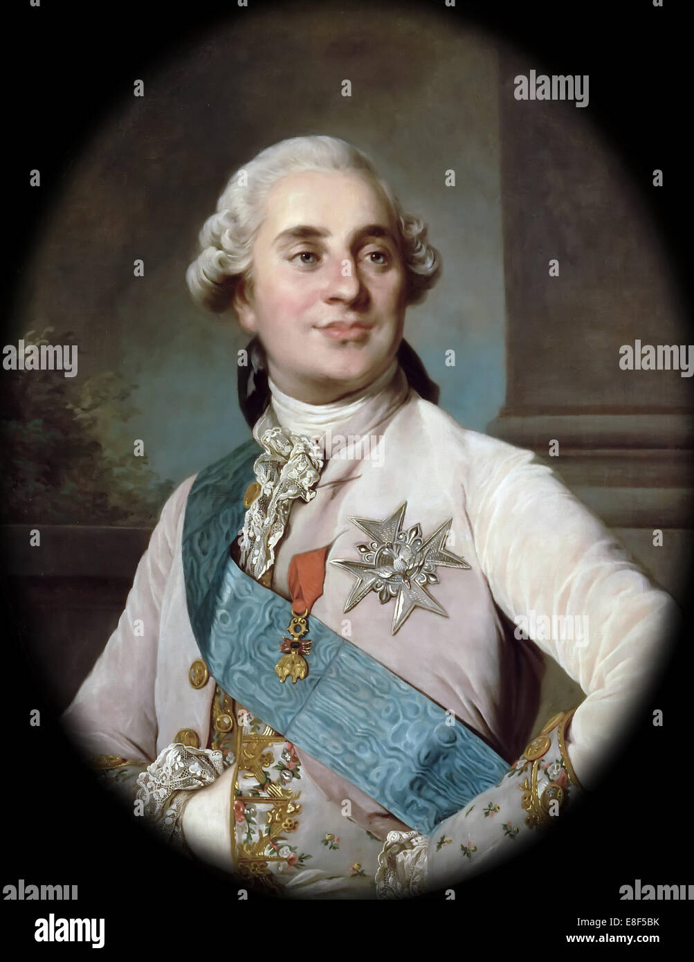 Portrait of the King Louis XVI (1754-1793). Artist: Duplessis, Joseph-Siffred (1725-1802) - Stock Image