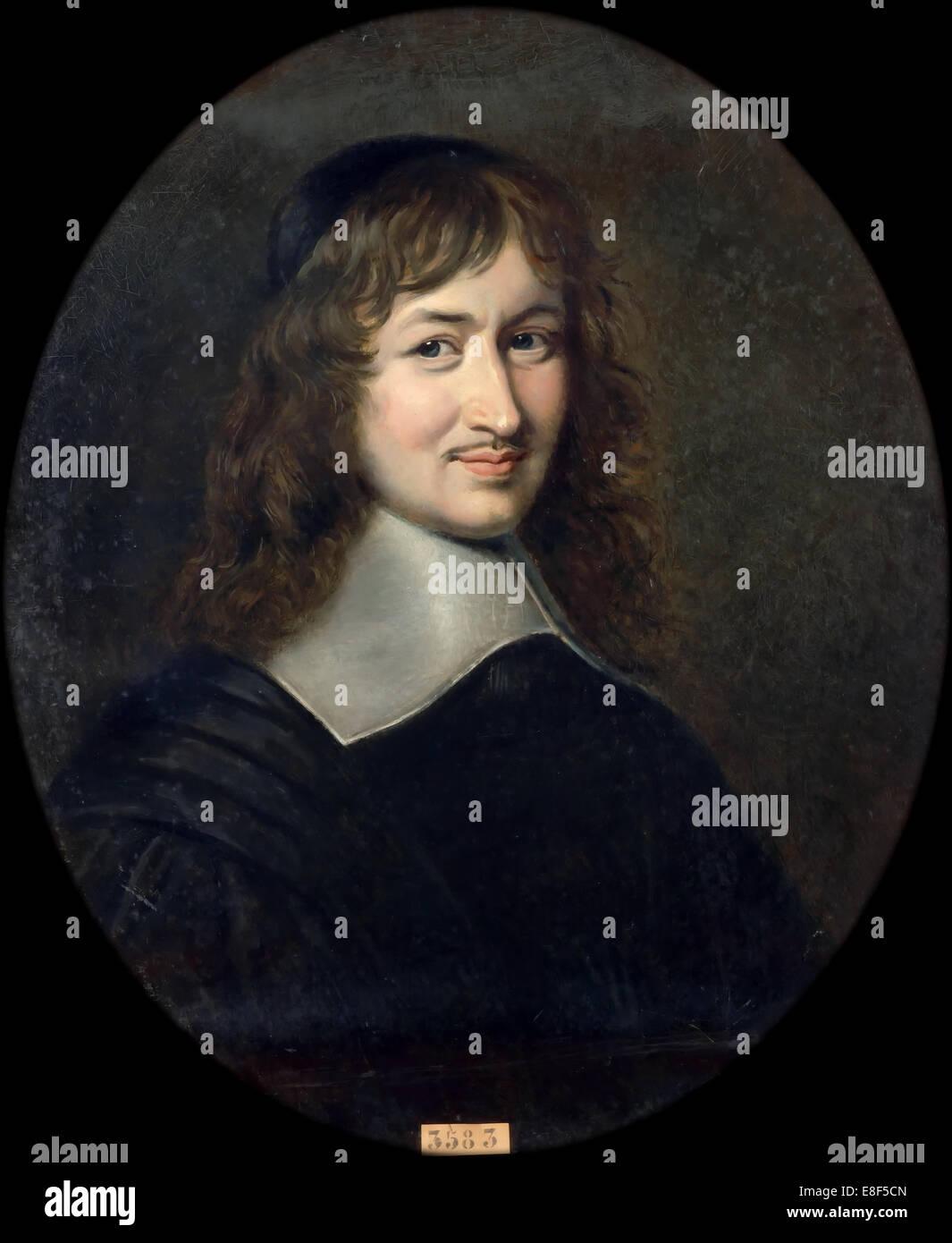 Portrait of Nicolas Fouquet (1615-1680). Artist: Lacretelle, Jean Édouard (1817-1900) - Stock Image